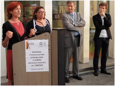 Octobre 2014 : le lycée hôtelier Guillaume Tirel entre dans le réseau des écoles associées de l'UNESCO pour ses actions en faveur du développement durable.