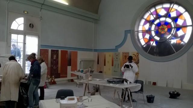 Un des ateliers d'artistes de St-Vincent-de-Paul.