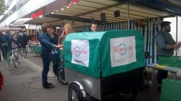 Biocycle à la rencontre des commerçants du marché