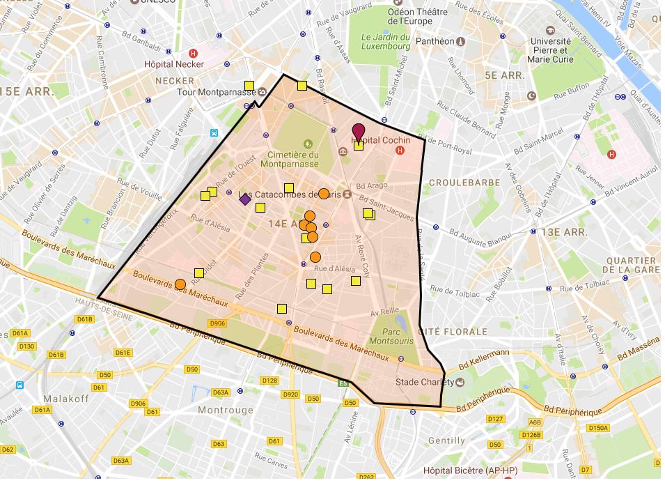 Capture d'écran du projet de cartographie des acteurs de la lutte anti-gaspi.