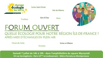 Invitation Forum Ouvert EELV IDF 7 juillet