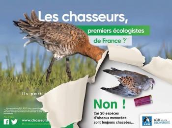 Affiche LPO chasse