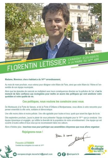 Déclaration candidature Paris 14e